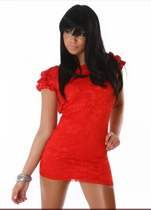 Фото Мини-платье Mini Style Dress  красный код: dr2461-3