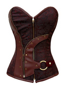 Фото Корсет винил Vinyl Leather Corset коричневый код: cor5313
