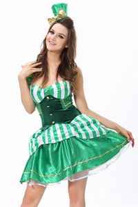 Фото Карнавальный костюм зеленого эльфа Green Elf Costume код: cos1454