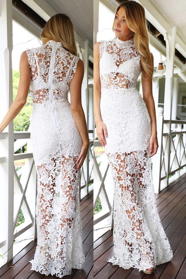 Длинное Платье С Кружева
