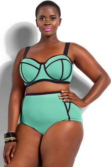 Фото Купальник Plus Size Swimwear  код: sw41435-2p