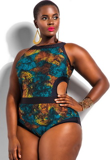 Фото Купальник Plus Size Swimwear  код: sw41441-1