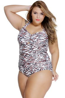 Фото Купальник Plus Size Swimwear  принт код: sw41812-1