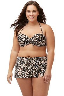 Фото Купальник Plus Size Swimwear  принт код: sw41818