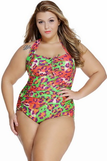 Фото Купальник Plus Size Swimwear  принт код: sw41859-10
