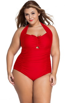 Фото Купальник Plus Size Swimwear  красный код: sw41859-3